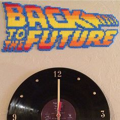 Back to the Future logo perler beads by universal_pixels