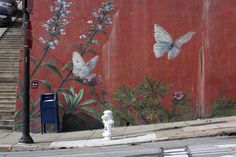 San Francisco Botanical Mural by Mona Caron