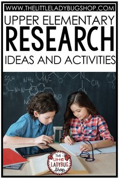 The importance of teaching research writing in upper elementary cannot be overlooked! Teaching research in elementary school helps students develop higher-level questioning skills, understand how to take notes, paraphrase, and focuses on communicating ideas through the written word. I have put together some helpful resources for you to use today and some info to help you understand the importance of research in your classroom. #thelittleladybugshop Research Writing, Research Skills, Writing Resources, Classroom Resources, Teaching 6th Grade, Teaching Social Studies, Upper Elementary Resources, Elementary Schools, Writing Mini Lessons