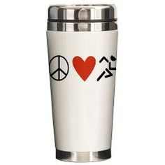 Peace Love Run Ceramic Travel Mug> Drinkware> The Run Home