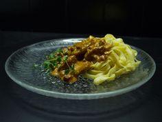 Fläskfilégryta, serveras med färsk pasta   Recept från Köket.se