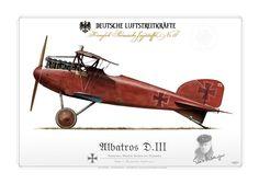 """Deutsche Luftstreitkräfte Albatros D.III """"Le Petit Rouge"""" Rittmeister Manfred von Richthofen Jasta 11, Roucourt, April 1917"""