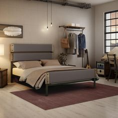 AMISCO - Dunhill (12407-60) - Furniture - Bed - Industrial collection - Contemporary