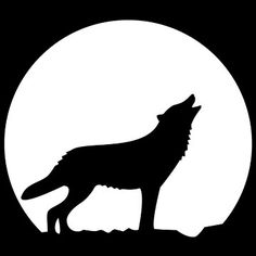 Howling Wolf Stencil free printable - part of a collection of 34 cool stencils -  for Halloween