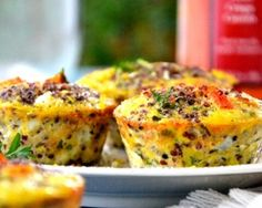 brunch - Egg Muffins - eggs, baby spinach (cooked), roma tomato, vidalia onion, parsley, chia seeds, salt, white pepper. bake 350 for 30 min. serve warm or refrigerate up to 5 days