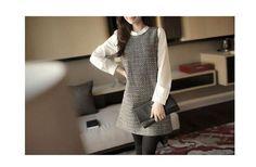 Women's Cute Long Sleeve Trendy Mini Dress Luxury Style  Slim Dress Working Girl #NewWithoutTags #ShirtDress #Casual