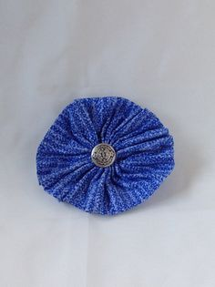 Fabric Flower Brooch by AnnetiqueChic on Etsy
