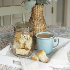 Buttermilk Rusks (Karringmelk Beskuit) - Powered by Buttermilk Rusks, Date Loaf, Rusk Recipe, South African Recipes, Pan Bread, Stick Of Butter, Best Coffee, Food Print, Mornings