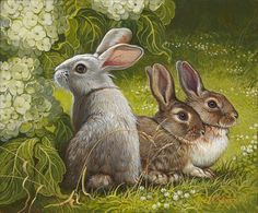 Yana Movchan   OIL   Bunny's World