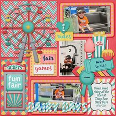 Amusement Park Scrapbook Page Ideas | 1000+ images about Scrapbook Layouts (State Fair/Amusement Park) on ...