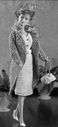 Barbie's 1940's Outfit Crochet Pattern PDF Download