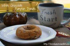 White Chocolate Pumpkin Donuts by Brooke: Not On a Diet