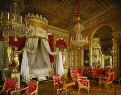 Bedroom of Marie-Louise, seond wife of Napoleon I. Furniture by Jacob Desmalter; 1809