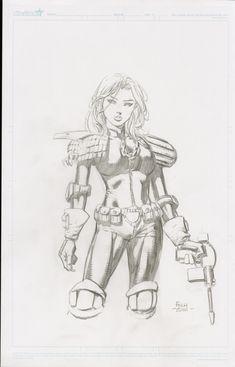 Judge Anderson by David Finch Comic Art