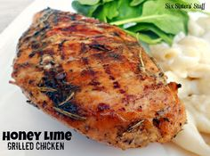 Honey Lime Grilled Chicken on SixSistersStuff.com- one of my favorite grilled chicken recipes!
