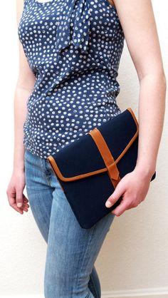 Notebooktaschen - Hülle iPad 2/3/4/ Air /Air 2 echtes Leder &... - ein Designerstück von thebagman bei DaWanda