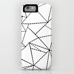 Abstract Dotted Lines Black and White iPhone & iPod Case #abstract #dot #dotted #lines #black #white #power #case #powercase