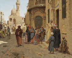 Arthur von Ferraris - Captive Audience, Cairo [1891]