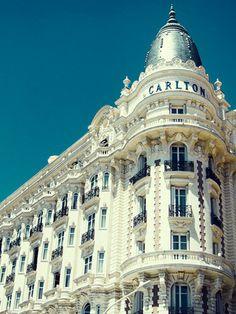 Carlton Hotel, Cannes, France, where Grace Kelly met Prince Rainier III. (Marc Hom/Marie Claire)