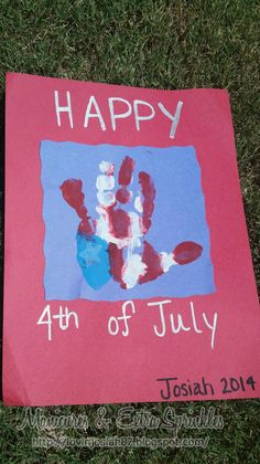 Hand print Flag for any holiday!