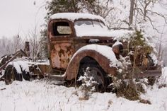 old rusty truck Stock Photo