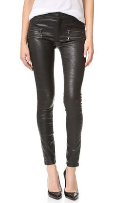 PAIGE Edgemont Leather Pants. #paige #cloth #dress #top #shirt #sweater #skirt #beachwear #activewear