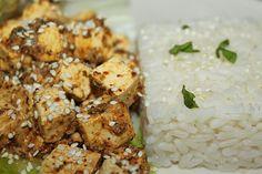 žít vege: tofu v citrónovo-hořčičné omáčce s rýží Tofu, Healthy Recipes, Vegan, Meals, Chicken, Meal Ideas, Health Recipes, Meal, Healthy Food Recipes