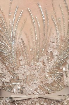 Elie Saab s/s 2012 haute couture embroidery details Tambour Beading, Tambour Embroidery, Couture Embroidery, Embroidery Patterns, Couture Beading, Wedding Embroidery, Embroidery Fashion, Elie Saab Haute Couture, Haute Couture Paris