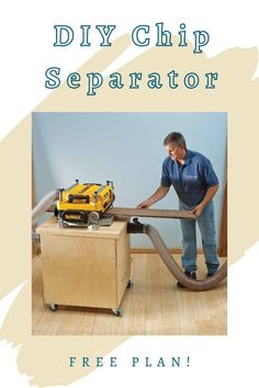 Build your own Dust Separator Cabinet to save wear and tear on your dust collection system and utilize valuable shop space. Download our free plan and get started today!  #createwithconfidence #freerocklerplan #freewoodworkingplan #diydustseparatorcabinet #dustcollection Beginner Woodworking Projects, Teds Woodworking, Woodworking Crafts, Garage Workshop Organization, Cabinet Plans, Wood Working For Beginners, Wood Plans, Dust Collection, Hardware