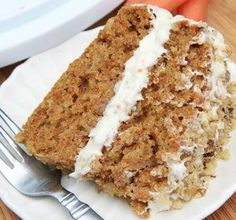 Gluten-who? Honey you won't be missing gluten at all once you taste this fluffy, moist gluten-free carrot cake! I bet you won't even be able to tell a difference! This gluten-free carrot cake is packed full of sweet, fresh carrots and lightly spiced with cinnamon and brown sugar. And it's super easy to make!