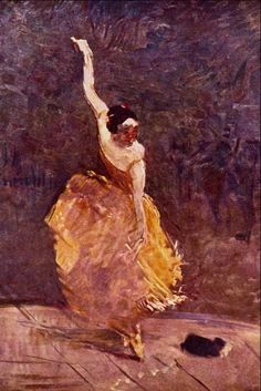 The dancing girl, Toulouse-Lautrec