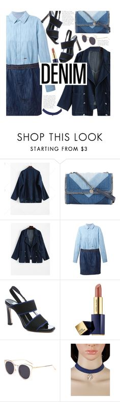 """""""All Denim, Head to Toe"""" by beebeely-look ❤ liked on Polyvore featuring STELLA McCARTNEY, Dsquared2, Estée Lauder, vintage, StreetStyle, Denimondenim, streetwear, alldenim and twinkledeals"""