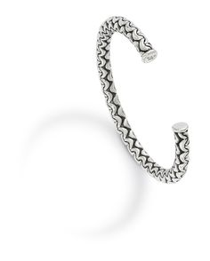 Sterling silver bangle by Whiting & Davis Fine.