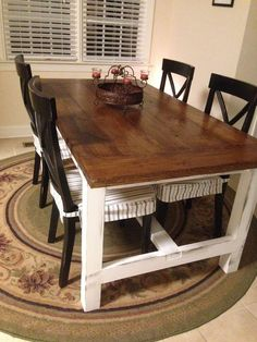 DIY Farm Table on the Cheap! | Hometalk To see more: http://www.blogarican.com/hodge-podge-of-diy-home-projects/