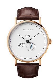 Oh My, This is one of the most beautiful watches i have ever seen. The Georg Jensen Koppel Grande Date Annual Calendar