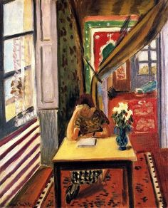 Henri Matisse - Reader Leaning her Elbow on the Table, 1923-24. #reading #books