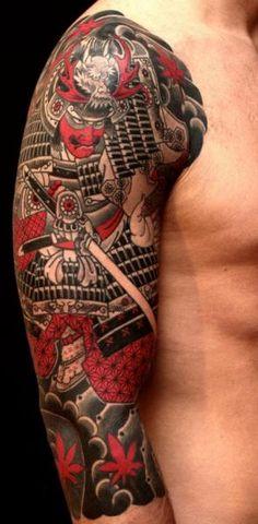 Samurai Tattoo, Yakuza Tattoo, Japanese Back Tattoo, Traditional Japanese Tattoos, Japanese Style, Face Painting Tutorials, Japan Tattoo, Sweet Tattoos, Tribal Tattoos