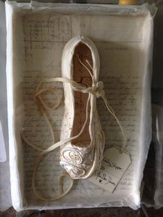 """Wedding Slipper"" - Silk , Paper, Stitch ,old letters- Caroline Lingwood, Boo and the Angel"