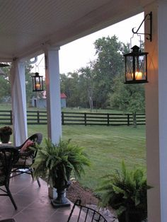 Hanging Lanterns On Deck Posts Absolutely Love This Patio Makeover Her Entire Blog Is Amazing