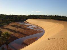Dunas no Parque Estadual do Jalapão, no estado do Tocantis, Brasil.  Fotografia: Vitor 1234.