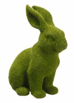 12 1/2in Moss Bunny Spring Easter Decorations Window Display Props