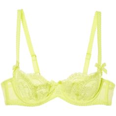 L'Agent by Agent Provocateur Women's Vanesa Non Pad Demi Bra - Yellow,... ($49) ❤ liked on Polyvore featuring intimates, bras, yellow, padded demi bra, padded underwire bra, yellow bra, padded bra and demi bra