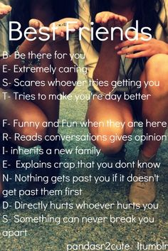 Best Friend Acrostic #bestfriends #bestfriendquotes #quotes {Best friends will always have loyalty and will always take conversations only to the grave. Never share or disrespect you, but always cherish you. Near or far apart. Time has no meaning. }