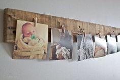 3ft Pallet Photo Hanger on Etsy, $15.00