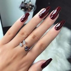 Burgundy nails Inspiration  #Burgundy #nails
