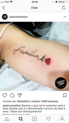 Minus the flower Family Tattoos, Mom Tattoos, Friend Tattoos, Wrist Tattoos, Body Art Tattoos, Small Tattoos, Tatoos, Tattoo Designs Foot, Tattoos Familie