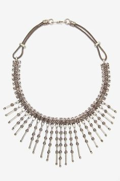 Spike It Up Chain Necklace - Accessories | Necklaces | Silver