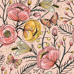 Textile patterns. by Anna Aniskina, via Behance