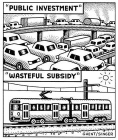 Paul-based cartoonist Andy Singer created a book 'Why We Drive', released this year that uses political cartoons and historical photos to make his case for, among other things public transport. New Urbanism, Urban Analysis, Simple Cartoon, Environmental Design, Problem And Solution, Built Environment, Green Life, Urban Planning, Travel Light