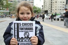 PHOTO: Protesting for underage Palestinian political prisoners in Montevideo